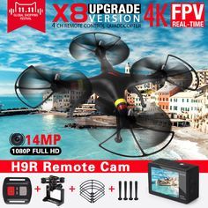 Syma X8 X8HG X8HW FPV RC Quadcopter Drone with 4K/1080P Camera HD 2.4G 6Axis RTF RC Helicopter Can fit H9 Camera VS SYMA X8H