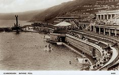 The Story of the South Bay Pool – Stories From Scarborough Scarborough England, Butlins Holidays, North Yorkshire, Old Pictures, Outdoor Pool, East Coast, Paris Skyline, Vintage Postcards, Vintage Photos