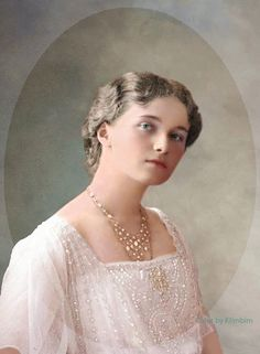 The Romanovs. Grand Duchess Olga Nikolaevna (1895 – 1918) of Russia, daughter of Emperor Nicholas II.
