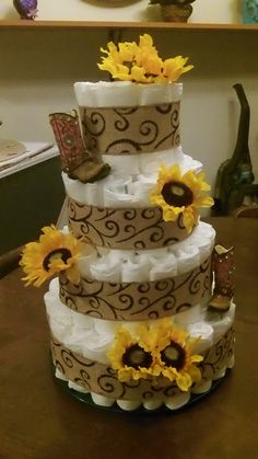 country diaper cake