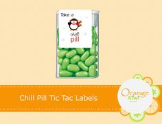 Chill Pill Tic Tac Labels Christmas Tic Tac Party Favor