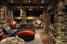 Rustic Kids' Bedrooms with Creative, Cozy Elegance ---  Winter cabin inspired kids' bedroom with bunk beds