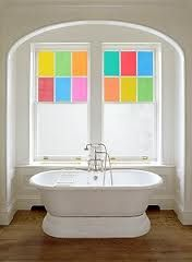 This is so cute in the bathroom... love the little bits of color.
