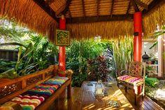 Create your own tropical backyard oasis - Better Homes and Gardens: DIY, Renovation, Gardening & Recipes Tropical Garden Design, Tropical Backyard, Tropical Landscaping, Landscaping With Rocks, Backyard Landscaping, Landscaping Ideas, Bali Garden, Home And Garden, Side Garden