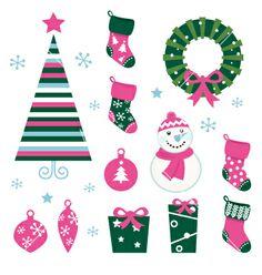 Christmas cartoon icons vector 645730 - by lordalea on VectorStock�