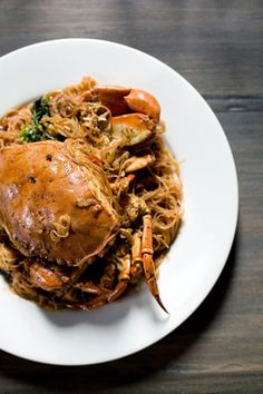 Crab Bee Hoon by Chef Bryant Ng- and a discussion of street food