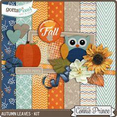 Autumn Leaves Kit Two :: Pixel Club Exclusives :: Pixel Club :: Gotta Pixel Digital Scrapbook Store