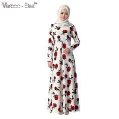 Cheap maxi dress women, Buy Quality maxi dress directly from China muslim maxi dress Suppliers: Muslim Maxi Dress Women Print Abaya Kaftan Arab Robes Islamic Long Dresses Dubai Turkey Colorful Vestido Instant Hijab 046 Cheap Dresses, Casual Dresses, Long Dresses, Habits Musulmans, Muslim Long Dress, Spring Fashion 2017, Dress Robes, Islamic Clothing, Muslim Fashion
