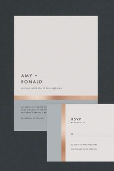Stripe It Wedding Invitations