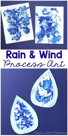 Rain and Wind Process Art Project for Preschoolers