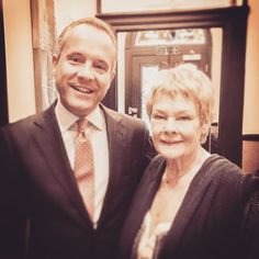 Our General Manager with Dame #JudieDench who came to Flemings Mayfair for an interview with BBC and photo shoot with Andy Gotts.