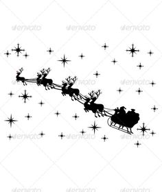 Santa Claus Driving in a Sled — Vector EPS #winter #gift • Available here → https://graphicriver.net/item/santa-claus-driving-in-a-sled/6323681?ref=pxcr