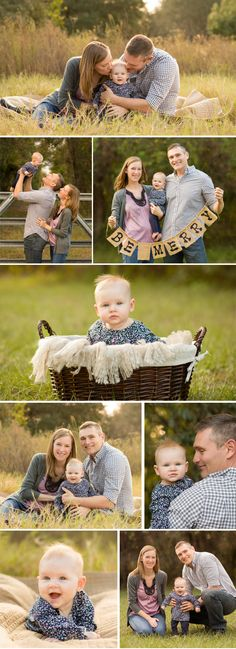 Family photography session by Tampa photographer Sherri Kelly - family poses, outdoor family session, six month baby photos poses