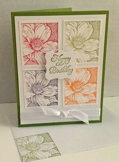 Floral Blocks - try with autumn foliage