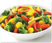 Market Day's Farmer's Market Blend - Grade A broccoli, carrots, green beans, yellow wax beans & red peppers. Rich in Vitamins A & C. Flash frozen to lock in nutrients.