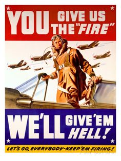 WWII US Air Corps 'Give us the Fire' Art sur AllPosters.fr