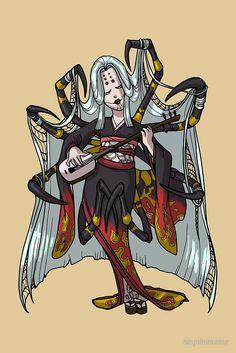 Spider Yokai Jorōgumo MONSTER GIRLS Series I by Angela R. Sasser. monstergirls.angelasasser.com #monstergirls #spidergirl