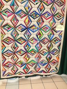 """Featured Member Quilts: April 15 Evening - 24 Blocks.  from: Lahonda Littleton: """"Scrappy diamonds and stars"""""""