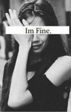 "Definitely me last night. I was far from ""fine,"" I hate being an emotional wreck. (Not bc of my job lol)"