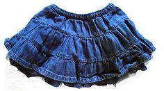 Girls Size 12-18m Baby GAP Denim & Tulle Ruffle Skirt with Attached Bloomers.  $2.99