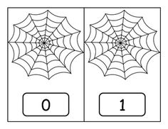 Spider Web Counting Mats 0-21 - Kindergarten Counting