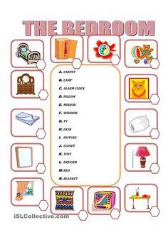 Furniture in the bedroom worksheet - Free ESL printable worksheets ...