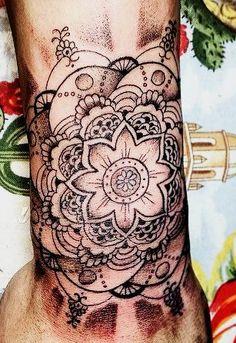 It looks like a henna tattoo! Lol