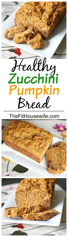 Zucchini Pumpkin Bread. A delicious and moist bread full of healthy ingredients!