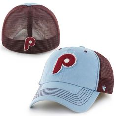 a52761232a1 Philadelphia Phillies  47 Brand Taylor Cooperstown Collection Closer Flex  Hat – Maroon Light Blue