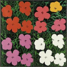 A Set Of Six Self-Portraits Andy Warhol | Andy Warhol, Flowers (1964) , Price realized: USD $7,642,500.