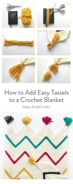 Free Pattern - How to Add Easy Tassels to a Crochet Blanket