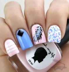 Super cute girly summer nails - IG gamengloss FB GAME N GLOSS