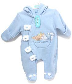 58f286926 Baby C - Blue Hide and Seek Fluffy Fleece Sleepsuit - Various Sizes - 7019