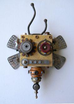 Recycled Art Assemblage  B.U.Z.Z. Bot  Original by redhardwick, $105.00
