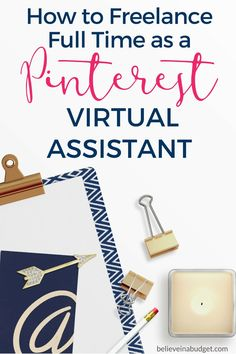 If you want to start a freelance career or become a virtual assistant, learning how to become a Pinterest virtual assistant in just a few hours! I make over $4,000 a month as a part time Pinterest virtual assistant and you can too!