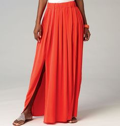 M6931 - McCall's - A good pattern for my tulle/chiffon skirt obsession  #fallintofashion14 #mccallpatterncompany