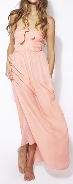 Coral maxi - love the bow