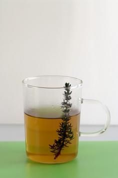 """""""Garden thyme...is known primarily as a lung cleanser and an herb to dry up moist lung conditions. Thyme tea is excellent for babies with moist coughs.  'Is is used to help expel the afterbirth and also as a wound herb, because of its antiseptic properties...Combine thyme and rosemary for migraine headaches..."""