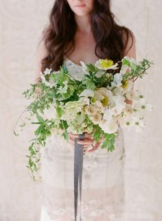 Fresh white spring bouquet:  http://www.stylemepretty.com/little-black-book-blog/2016/04/06/spring-floral-inspiration-at-pippin-hill-farm/ | Photography: Corbin Gurkin - http://corbingurkin.com/: