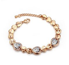 Gold Plated Bracelet with Crystal - Q295.00