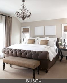 Taupe bedroom | ABR Fine Art Consulting & Advising