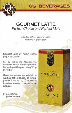 A House Favorite, OG Gourmet Latte blends high quality aromatic Arabica coffee beans with 100% certified authentic Ganoderma. Perfect for breakfast or as a relaxing drink, the coffee's light, sweet and creamy taste makes it the ideal start for any morning.