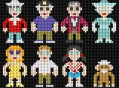 Gilligan's Island - Perler Beads (Lair of the Dork Horde: Lite Brite Brutes) Lite Brite, 8bit Art, Nerd Crafts, Ideal Toys, Pixel Pattern, Rough Riders, Vintage Books, Bead Art, Plastic Canvas