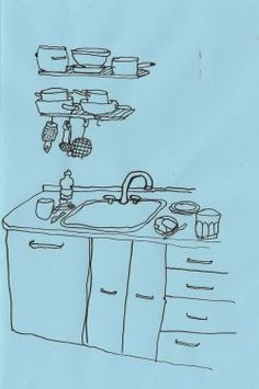 "basquiatwowo: ""our kitchen + the kitchen at a summer house in sweden , old drawings "" Sketchbook Inspiration, Art Sketchbook, Arte Hippy, Art Sketches, Art Drawings, Desenho Pop Art, Urban Sketching, Love Art, New Art"