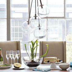 Clear-Glass-Bubble-Pendant-Flush-Mount-Lamp-Lighting-Chandelier-Light-Fixture-US
