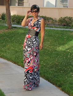 DIY Maxi Dress + Pattern Review M6700 - Mimi G Style