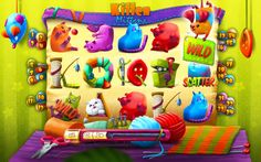 Kitten Mittens Slots Game Progress by Przemyslaw Piekarski, via Behance