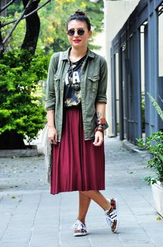 Carol Burgo linda de midi! http://www.smallfashiondiary.com/