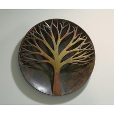 Ancient Graffiti 12 in. Raised Tree Flamed Wall Disc * Want to know more, click on the image. (This is an affiliate link) #WallSculptures