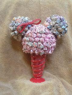 Minnie Mouse Candy Arrangement.
